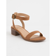 CITY CLASSIFIED Ankle Strap Cognac Womens Heeled Sandals