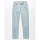 LEVI'S 502 Regular Taper Fit Light Indigo Boys Jeans