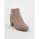 QUPID Topanga Taupe Womens Heeled Booties
