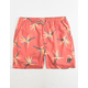CAPTAIN FIN Lounge Lizard Red Mens Volley Shorts