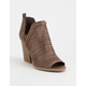 QUPID Barnes Taupe Womens Heeled Booties