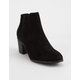 QUPID Topanga Black Womens Heeled Booties