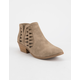 SODA Side Lattice Taupe Womens Booties