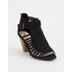 QUPID Chamber Black Womens Heeled Sandals