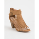 QUPID Chamber Tan Womens Heeled Sandals