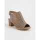 SODA Geometric Perforated Womens Heeled Sandals