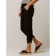 REWASH Black Crop Womens Jogger Pants