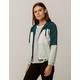 FULL TILT Color Block Green Womens Windbreaker Jacket