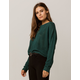 I+IVY & MAIN Crop Emerald Womens Sweater