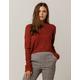 IVY & MAIN Crop Rust Womens Sweater