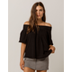 ROXY Hey Tonight Womens Off The Shoulder Top