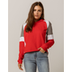 FULL TILT Color Block Red Womens Crop Hoodie