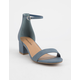 CITY CLASSIFIED Microsuede Blue Womens Heeled Sandals