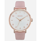 NIXON Arrow Leather Rose Gold & Pink Watch