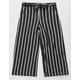 WHITE FAWN Stripe Crop Black Girls Palazzo Pants