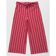 WHITE FAWN Stripe Crop Red Girls Palazzo Pants