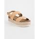 SODA 2 Strap Platform Nude Womens Espadrille Sandals