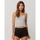 GOOD LUCK GEM Thermal Heather Gray Womens Crop Cami