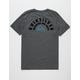 QUIKSILVER Circle Of Grunge Grey Mens T-Shirt