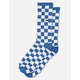 VANS Checkerboard Crew True Blue White Check Mens Socks