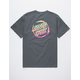 SANTA CRUZ Throwdown Grey Mens T-Shirt