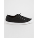 SODA Knitted Lace-Up Black Womens Sneakers