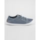 SODA Knitted Lace-Up Blue Womens Sneakers