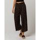 SKY AND SPARROW Tie Print Crop Womens Wide Leg Pants