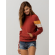 FULL TILT Arm Stripe Rust Womens Hoodie