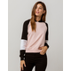 FULL TILT Color Block Raglan Black & Pink Womens Crop Hoodie