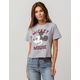 MIGHTY FINE Mickey Mouse Womens Crop Tee