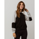 FULL TILT Color Block Raglan Black & Gray Womens Crop Hoodie