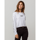 VANS Boxed V White Womens Crop Tee