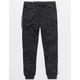 BROOKLYN CLOTH Contrast Piping Black Boys Jogger Pants