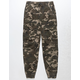 NITROUS BLACK Rooted Cargo Boys Jogger Pants