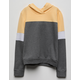 DESTINED Color Block Yellow Girls Hoodie
