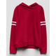 DESTINED Varsity Stripe Red Girls Hoodie
