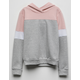 DESTINED Color Block Pink Girls Hoodie