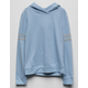 DESTINED Varsity Stripe Light Blue Girls Hoodie