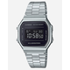 Casio Vintage A168WEM-1 Silver & Black Watch