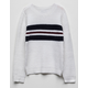 WOVEN HEART Chest Stripe White Girls Sweater