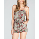 LOTTIE & HOLLY Floral Button Front Romper