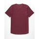 ELWOOD Curved Hem Slub Burgundy Mens Tall Tee