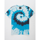 BLUE CROWN Spiral Blue Mens T-Shirt