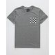 BLUE CROWN Checkers Hi-Lo Mens Pocket Tee