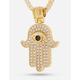 KING ICE 14K Gold Hamsa Necklace