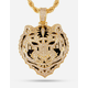 KING ICE 14K Gold The Bengal Tiger Necklace