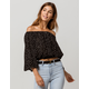 PATRONS OF PATRONS Polka Dot Womens Off The Shoulder Top