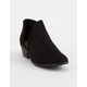 SODA Perforated Side Cutout Black Womens Booties
