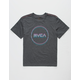 RVCA Tri Motors Black Boys T-Shirt